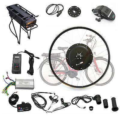 "26"" 48V 500W Electric push bike bicycle Conversion Kit Hub Motor with Battery"