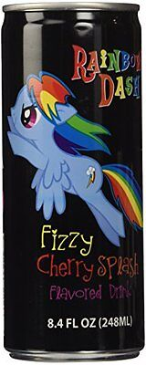 My Little Pony NonCaffeinated Flavored Drink Rainbow Dash Fizzy Cherry Spla