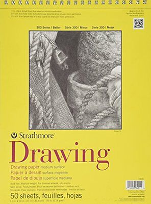 trathmore 300 Series Drawing Paper, Medium Surface - Wire Bo