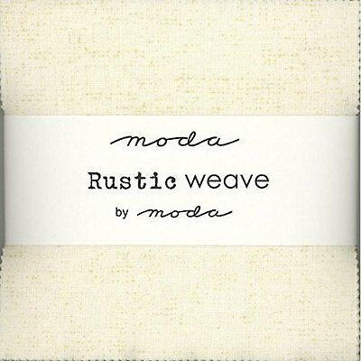 """Rustic Weave Moda Charm Pack; 42 - 5"""" Quilt Squares"""