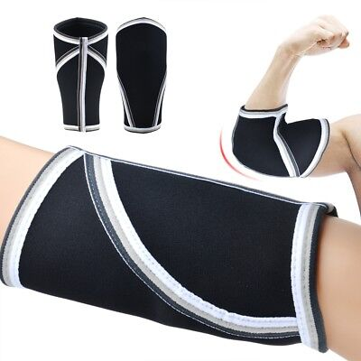 Elbow Sleeves 1 Pair Support Compression for Weightlifting Power-lifting 5mm