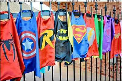 Superhero Cape (1 cape+1 mask) for kids birthday party favors and ideas。。。。。。