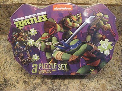 Teenage Mutant Ninja Turtle 3 Puzzle Set in Tin Box