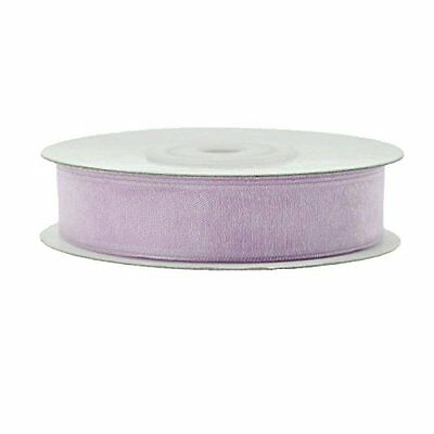 "Sheer Organza Ribbon 25 Yard Roll 5/8"" Lavender"