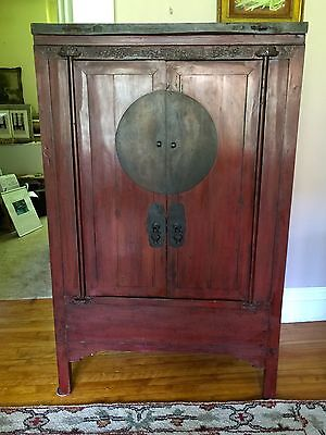 Antique Chinese Cabinet Wedding Armoire~Ming