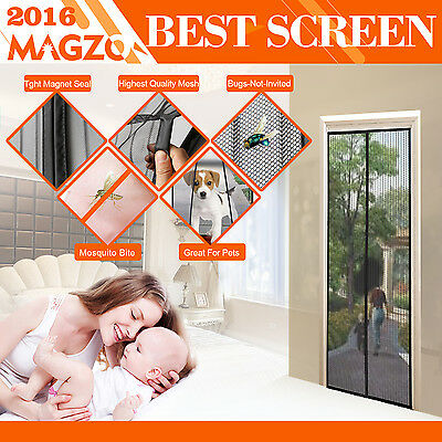 Magnetic Screen Doors Many Curtain Sizes to Choose Full Frame Velcro Screen Door