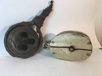 ANTIQUE  DEADEYE and PULLEY TALL SHIP RIGGING