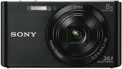 NEW Sony Cybershot W830 Black Digital Camera DSCW830B