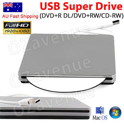 USB External Slot Load CD DVD RW ROM Drive Writer Burner For Notebook Mac Laptop