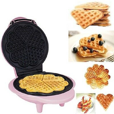 Home Waffle Maker Machine Compact Electric NonStick Kitchen Breakfast Food