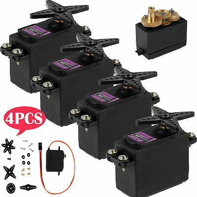 4 PCS MG996R Metal Gear Conponent Digital Torque Servo For Futaba JR 2C RC Truck