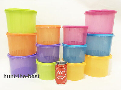 Limited 1 set Tupperware snack and stack canister food container storage modular