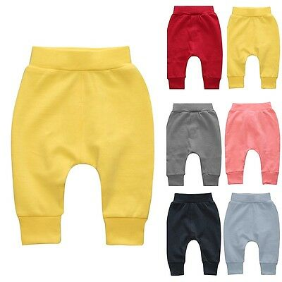 Toddler Boy Girl Casual Harem Pants Elastic Bottom Trousers Cute Kids Sweatpants