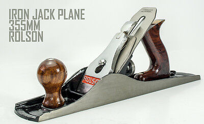 355mm No5 Iron Jack Smoothing Plane 50mm Adjustable Steel Blade