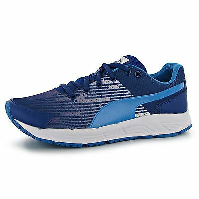Puma Sequence Running Trainers Juniors Blue Sports Sneakers Shoes Footwear