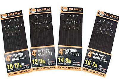 "Guru 4"" Ready Tied Method Rigs Speed Stop, Bait Band or Bayonet All Sizes"