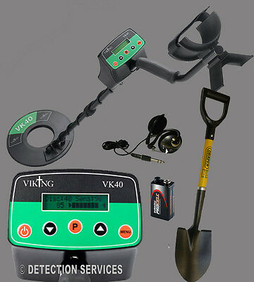 VIKING VK40 metal detector motion and non-motion of war and coins