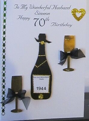 Personalised Handmade Birthday Card Brother Dad Husband Son Uncle 60th 70th 75th