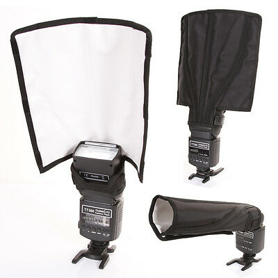 Foldable Flash Diffuser Speedlite Strobe Snoot Beam Reflector For Canon Yongnuo