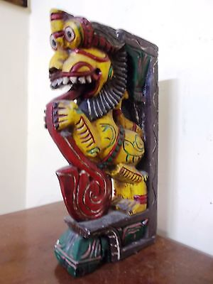 Vintage Wooden Bracket Corbel painted corbel Horse Yalli Dragon Sculpture