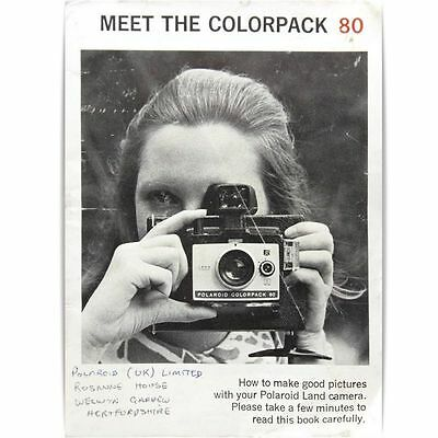 Vintage Polaroid Colorpack 80 Film Camera Guide Manual Instruction Book
