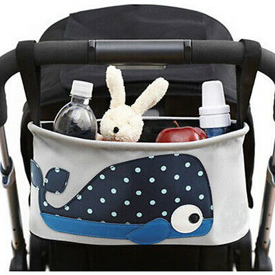 Waterproof Pushchair Baby Stroller Carriage Storage Bag Box Whale Pattern