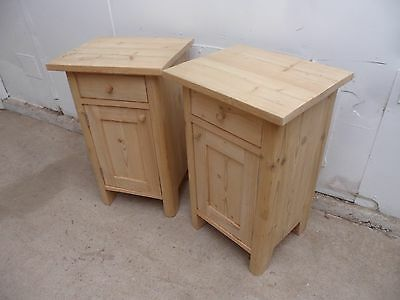 A Superb Pair of Antique Pine Bedside Cabinets to Paint/Wax