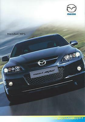 Mazda 6 MPS Brochure February 2006 23 pages inc Tech data and spec Exc Condition