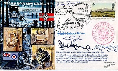 Stunning and VERY RARE multi signed GREAT ESCAPE cover
