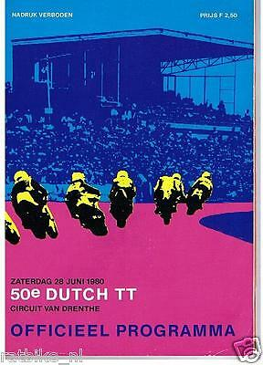 1980 Dutch Tt Assen Programme. Grand Prix,Moto Provini,Hollaus,Surtees,Hailwood