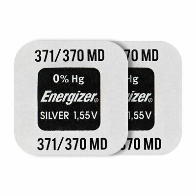 2 x Energizer Silver Oxide 371/370 batteries 1.55V SR69 SR920W Watch