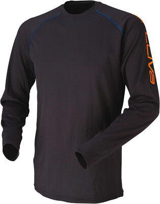 Arctiva Mens Black Evaporator Wicking Snowmobile Base Layer Top
