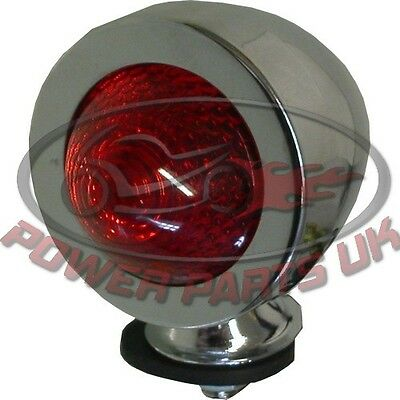Bullet Light Chrome New Type With Red Lens & E-Marked