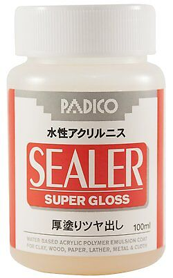 PADICO SEALER Water Based Acrylic Varnish Super Gloss 100ml for Cray,Wood,Paper