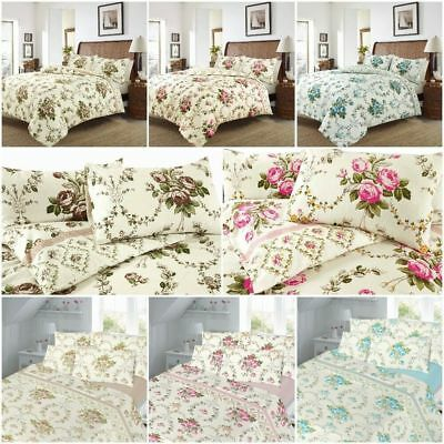 Flannelette Printed Duvet Covers Pillowcases Brushed Cotton Single Double King