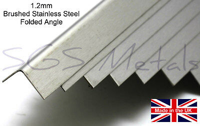 1.2mm Brushed Stainless Steel Folded Angle Corner Protector