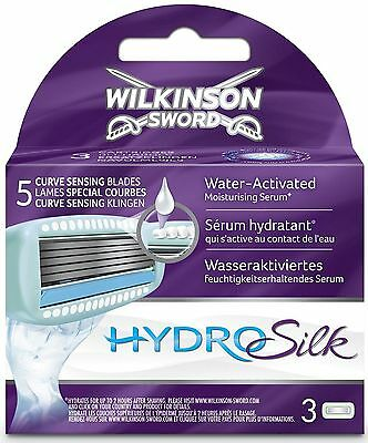Wilkinson Sword Hydro Silk Blades - 3 Pack