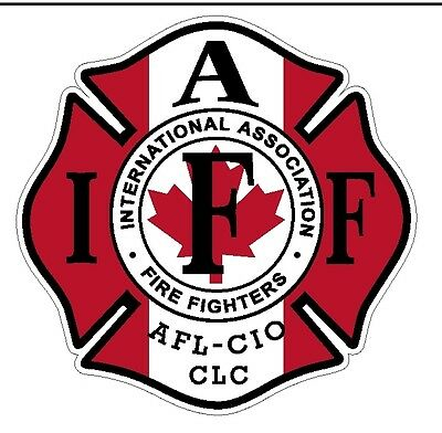 """4"""" IAFF Decal Canadian Exterior Mount READ AUCTION"""