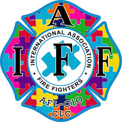 """4"""" IAFF Decal Autism Support Exterior Mount PLEASE READ AUCTION"""