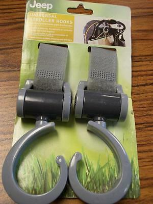Jeep Universal Stroller Hooks New in Package Grey