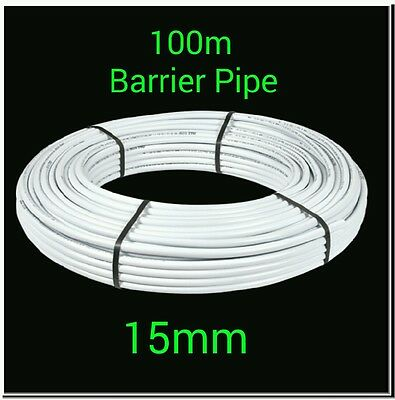 100m x 15mm barrier pipe coil PEX plumbing pushfit/speedfit/hep20 alternative