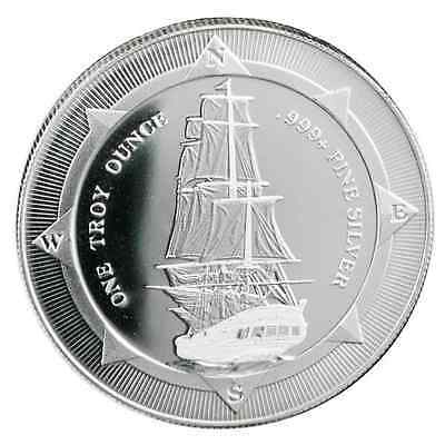 2017 New Zealand HMS Bounty 1 oz .999 Silver Round Very Limited Bullion Coin