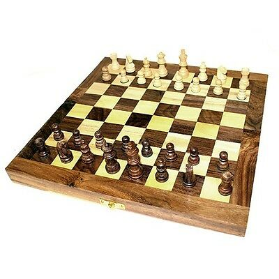 Wooden Chess Set Folding - Game - Board Game - Classic - Gift Idea - Regular