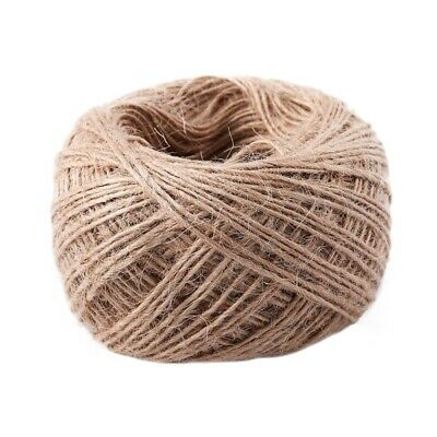 100 Meter - Natural Textured Hessian Jute Twine String 1mm AD