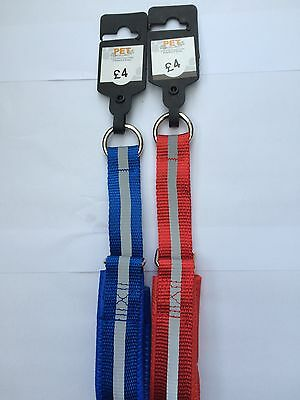 car boot job lot reflective Choker Dog Collars in red and blue joblot small