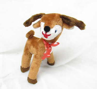 Vtg Parisi Reindeer Stuffed Plush Christmas