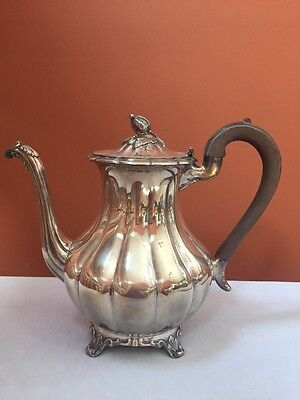 Rogers Silverplate Coffee Or Tea Pot Pattern Melon 7377