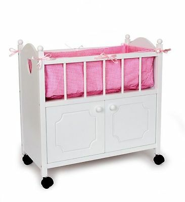 Bed for dolls with closet and dumpster in wood game/toy x girls