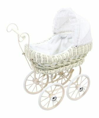 Pram for dolls in wicker with structure metal game Girls