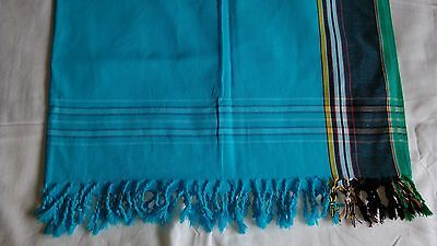 Kikoy/Sarong  - Cotton - Blue